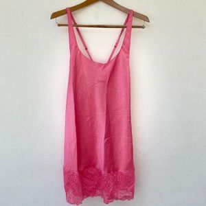 VICTORIA'S SECRET vintage gold label hot pink slip